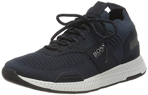 BOSS Herren Titanium Runn Sock-Sneakers mit Repreve®-Strick Größe 42