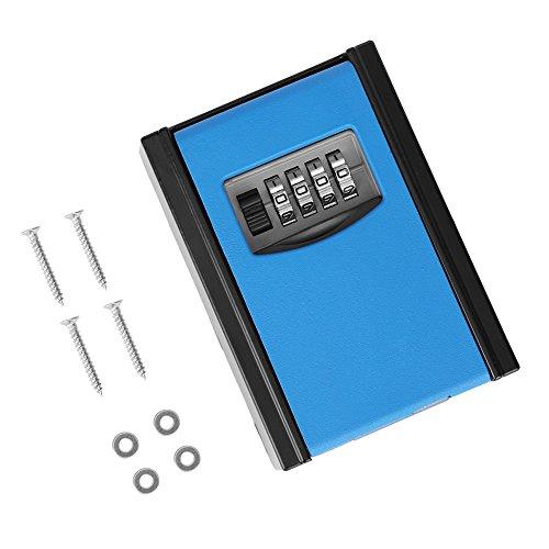 Schlüsselsafe, 4 Digit Passwort Wandhalterung Sicherheitscode Schlüssel Halter Lagerung Lock Box Fall für Haus Garage Schule Ersatz Haus Schlüssel.