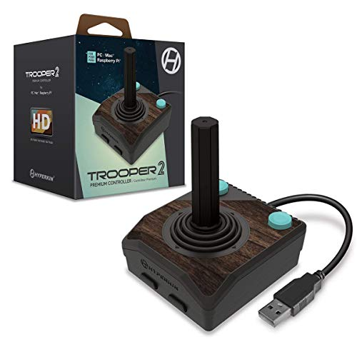 Hyperkin 'Trooper II' Premium Atari 2600 Style Wired USB Joystick Game Controller For PC/Mac/Raspberry Pi/Retro Pie/Linux