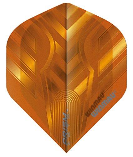 WINMAU Prism Zeta Dart Flight mit Prism Zeta Logo 100 Micron stark (Orange)