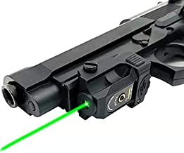 Infilight Green Laser Sight, Compact Green Laser Dot Sight Scope Adjustable Low Profile Picatinny Rail Mount Laser Sight with Rechargeable Battery Pistols & Handguns Less Than 5mw