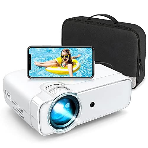 "Leisure 430 Beamer, Super Heimkino Beamer 236\"" Bildschirm, Support 1080P Full HD, Projector kompatibel mit TV Stick, HDMI, SD, AV, VGA, USB, PS4, iOS/Android Smartphone"