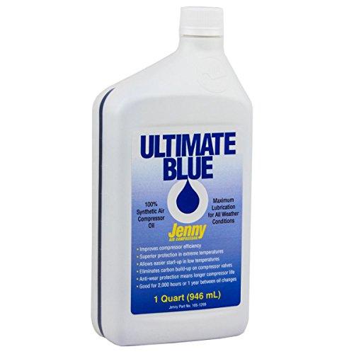 Air Compressor Oil 100% Synthetic 1 QT Quart Jenny Ultimate Blue 105-1209