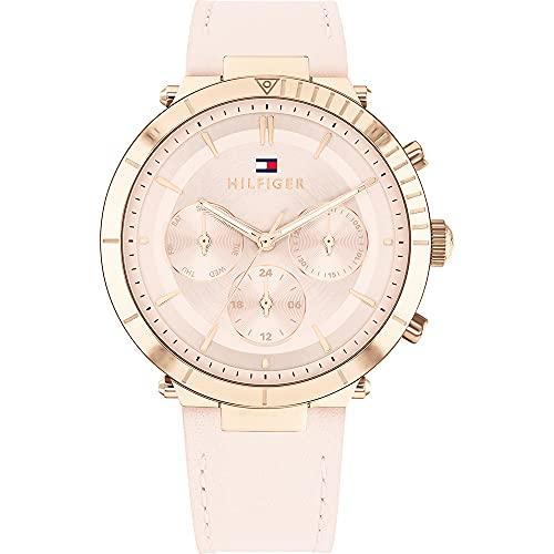 Tommy Hilfiger Womens Multi Zifferblatt Quartz Uhr mit Leder Armband 1782351