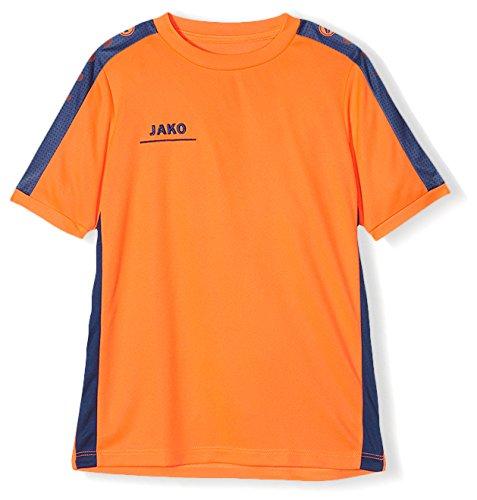 JAKO Kinder T-Shirt Striker, flame/nightblue, 128