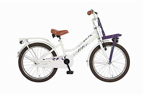 Altec 20 Zoll Kinder City Fahrrad Kinderfahrrad Cityfahrrad Mädchenfahrrad Bike Rad Rücktrittbremse Beleuchtung Frontträger TUANA LILA WEIß
