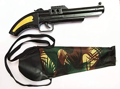biche Marshal Kid's Diwali Toy Gun Pistol for Kids Safe and Durable-Black