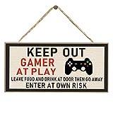 Amusingtao Keep out Gamer At Play Entra a Proprio Rischio novità Divertente Targa in Metallo, Segno di Gioco Regalo del Giocatore, Regalo di Natale di Compleanno per Xbox Fan Man Cave Son