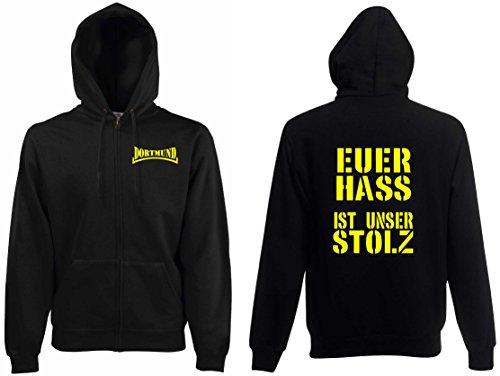 world-of-shirt / Dortmund Ultras Euer HASS ist unser Stolz Kapuzenjacke s-XXL