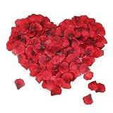 Mitening Petali di Rosa, 3500PCS Petali di Fiori Finti, Seta Rossi Petali di Rosa di Seta Artificiali per Matrimonio Festa di San Valentino Decorazione Festa di Compleanno Atmosfera Romantica