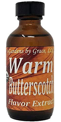 Organic Flavor Extract Butterscotch | Use in Gourmet Snacks Candy Beverages Baking Ice Cream Frosting Syrup and More | GMOFree Vegan GlutenFree 2 oz