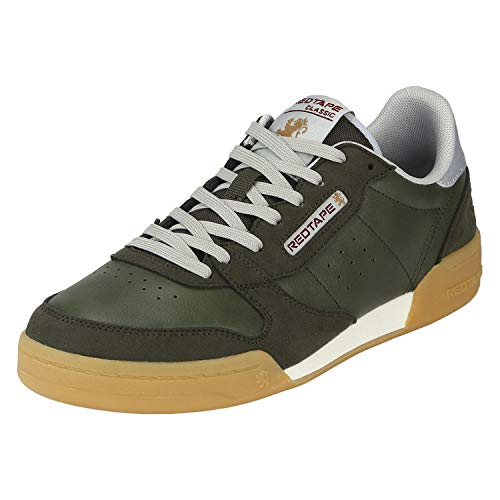 Red Tape Men Classic Olive Sneakers-11 UK (45 EU) (RTS11356)