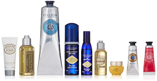 L'Occitane Hand Cream and Gift Set - 8 Travel Minis, Various Scents (Packaging May Vary)
