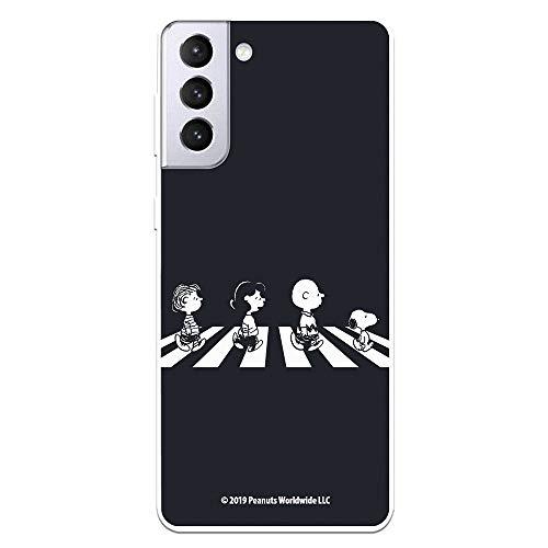 Funda para Samsung Galaxy S21 Plus Oficial de Snoopy Personajes Beatles. Protege tu móvil con la Carcasa para Samsung de Silicona Oficial de Peanuts.