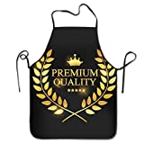 BetterShopDay Polyester Unisex Professional Quality Chefs Bib Apron Premium Quality Label for Kitchen BBQ Gardening Home Cooking...