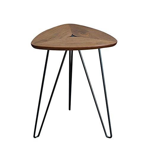 BaiHogi Mesa de cama, Tische herzförmige Couchtisch, Sofa-Table, Telefontisch, Outdoor und Indoor-Snack-Tische, Partywein-Tisch Couchtisch Farbe: Walnuss + Schwarz, Größe: 16.9222.44in