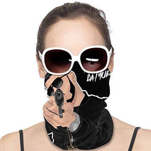 shanximengyama Anuel AA Real Hasta La Muerte Bandanas con estampado 3D Sombreros de equitación protectores Pasamontañas a prueba de viento Cara Bandana Bufanda Sol Protección contra el polvo UV