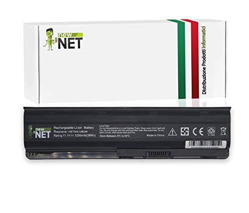 New Net Batteria MU06 593553-001 593554-001 593562-001 HSTNN-LB0W HSTNN-UB0W compatibile con HP Compaq G42 G56 G62 G4 G6 G7 Presario CQ32 CQ42 CQ43 CQ56 CQ57 CQ62 [5200mAh]