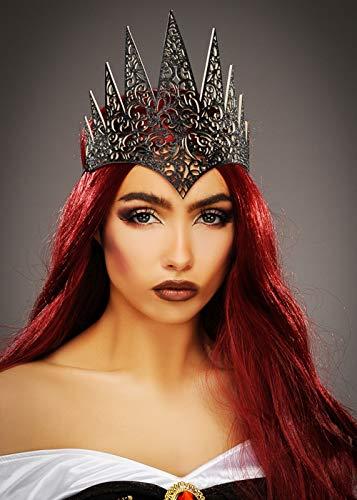 Womens gothique méchante Reine noir Couronne