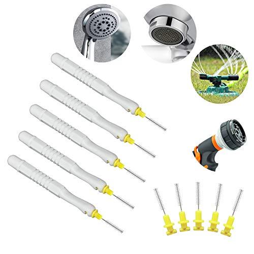 Reinigungsbürste für Duschkopf, Duschkopf-Reiniger - Es ist auch die perfekte Baggerlösung für die Verstopfung des Wasserhahnbelüfters und des Gartensprinklers und des Sprinklergriffs