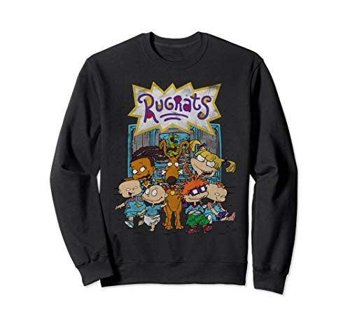 Rugrats Characters In Front of T.V. Sweatshirt