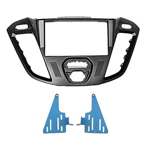 Huante - Juego de salpicadero de instalación de FA?Ade de la unidad de cabeza de coche 2 DIN para tránsito Custom, Tourneo Custom 2012 + (negro)