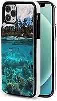 iphone 12 pro ケース iphone12 ケース 手帳型 水中ビーチ Iphone12 mini Iphone12 Pro Max 用 スマホケース スタンド機能 Apple 12 レザーウォレットケースアイフォン12 ケース / アイフォン12プロ ケース 財布型