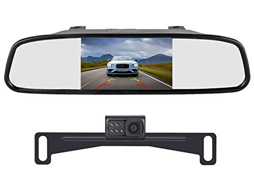 LeeKooLuu Reverse/Rear View Camera and Mirror Monitor Kit Only Wire Single Power...