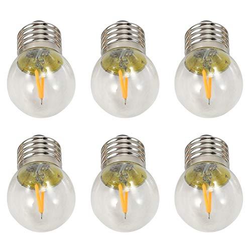 Camisin 220 V 2200 K G40 LED filamento globo bombillas 2 W, base de tornillo LED ultrailuminación decorativa, amarillo cálido