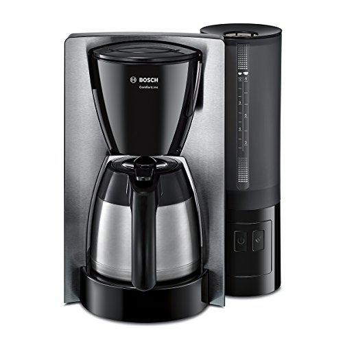 Bosch Comfort Line TKA6A683 - Cafetera de filtro / goteo, 1200 W, acero inoxidable, color negro