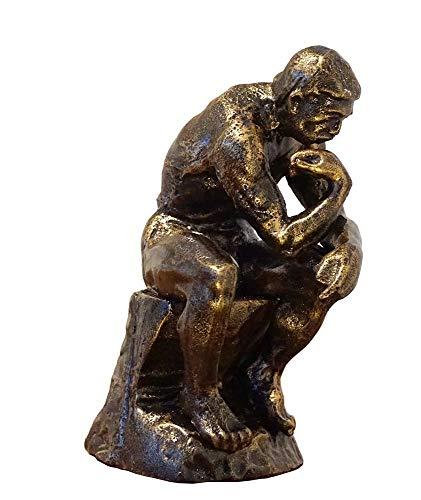 zeitzone Edle Skulptur Der Denker Figur nach Auguste Rodin Eisen Replik 26cm