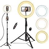 Ring light, doosl Luce ad Anello LED con Telecomando Wireless per Smartphone, Foto, Trucco...