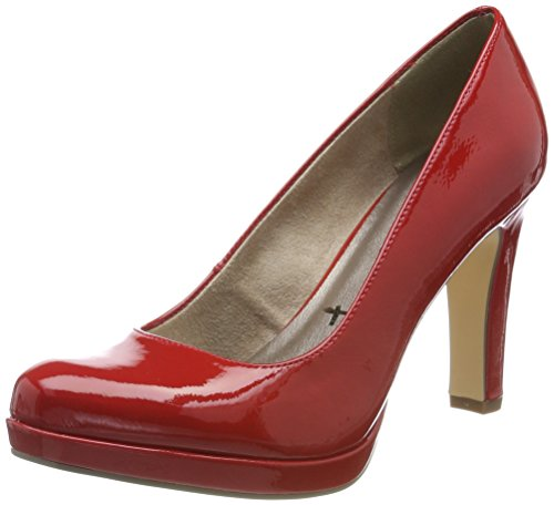Tamaris 22426, Escarpins Femme, Rouge (Chili Patent), 38 EU