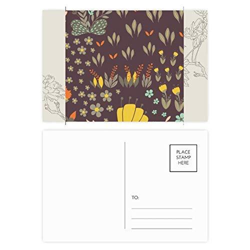 DIYthinker Mung Bonen Bloem Plant Verf Bloem Postkaart Set Thanks Card Mailing Zijkant 20 stks 5.7 inch x 3.8 inch Multi kleuren