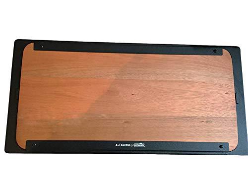 takestop® Vassoio Piatto TAVOLETTA in Legno Rettangolare 67.5x33x3 CM Grigliare Portare SERVIRE TAVOLA Planking per Barbecue ALESSI BARBICÙ FOCHISTA