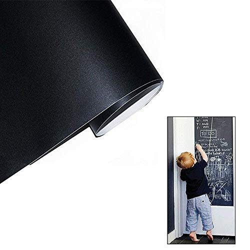 Afneembaar schoolbord, krijtbord, muursticker, inpakpapier voor school, huis, kinderkamer, bar, kantoor, winkel, 45 x 200 cm