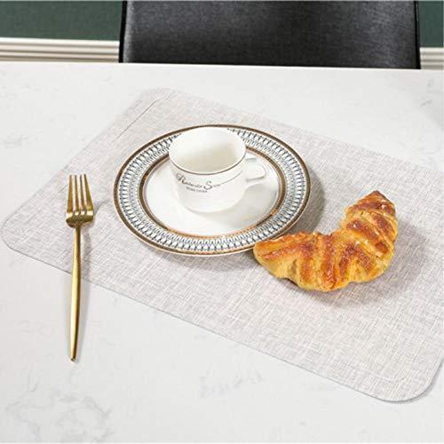 PortavasosMantel Individual de Cuero de PU sin Cocina Deslizante esteras de Mesa de Comedor Almohadillas de Aislamiento café Bebida té-C Blanco como la Leche
