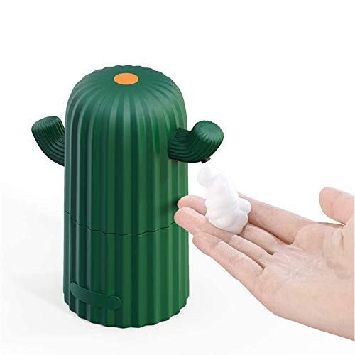 YGQNH Dispensador De Jabón Automático De Dibujos Animados Desinfectante Sin Toque Sin Toque Dispensador De Baño Sensor Inteligente Dispensador De Jabón Líquido para Cocina(Color:Tipo de Espuma)