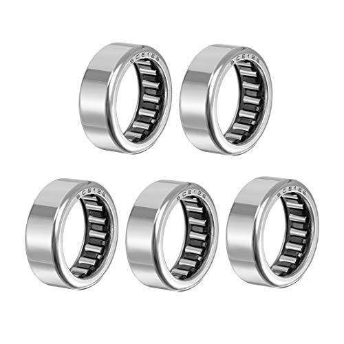 uxcell SCE126 Needle Roller Bearings, Drawn Cup Open End, 3/4-inch Bore 1-inch OD 3/8-inch Width 8300N Static Load 7100N Dynamic Load 5pcs