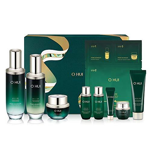 Ohui Prime Advancer 3pc Skincare Set, Skin Softener, Emulsion, Ampouple Capture Cream, Ampoule Serum, Eye Cream, Gel Cleanser, Ampoule mask 3-step, Facial Moisturizer Set