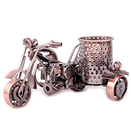 WuLi77 Kreative Motorrad Bleistifthalter, Metall Stiftehalter für Stifte, Bleistifte Schreibtisch ordentlicher Büro-Organizer bronze