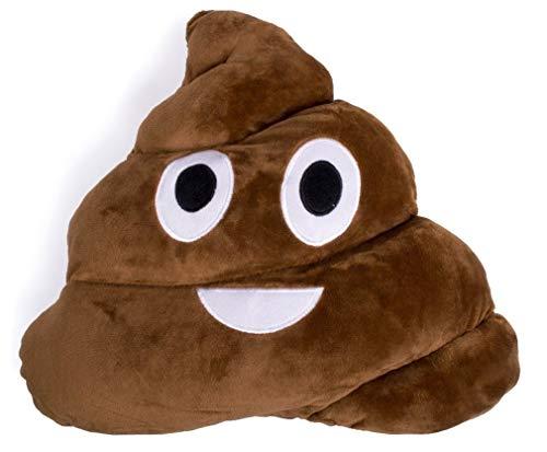 EX ELECTRONIX EXPRESS Poop Face Emoji Throw Pillow - Pile of Poo -...
