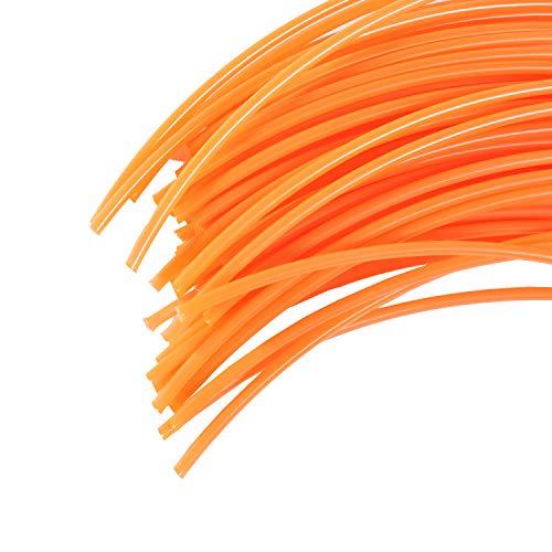 Jardiaffaires 60 Brins 4 mm X 42 cm de Fil Professionnel Rond pour débroussailleuse