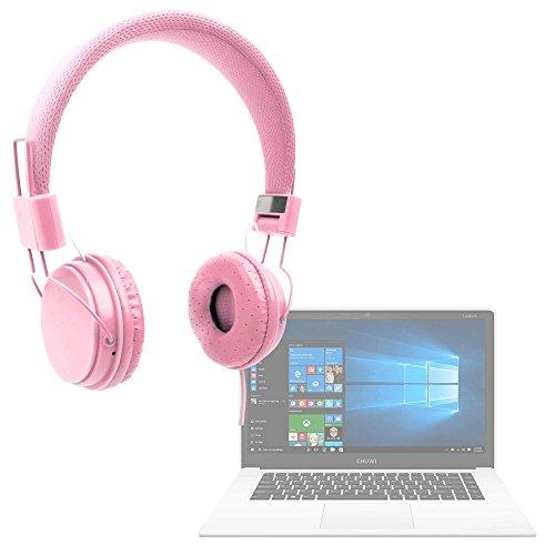 DURAGADGET Auriculares De Diadema Color Rosa para Portátil Chuwi LapBook Air/InnJoo LeapBook A100 / Prixton Netbook 10.1
