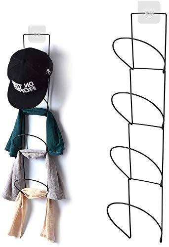 Yoassi [Upgrade Version Cap Halter für Caps/Hüte/Tücher/Schals/Handtasche Platzsparend Kappensammlung Schranktür/Wand/Badezimmer