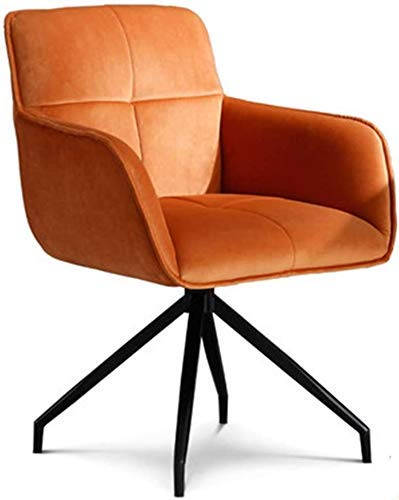 NUANYANG Dining Chair Light Luxury Home Study Office Chair Student Sedentary Comfortable Desk Seat Anchor Rotating Chairs (Color : Orange)