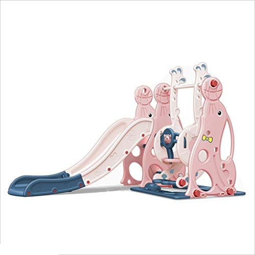 Freistehende Rutschen Freistehende Folien Climbers Slides Kinderrutsche zu Hause Mehrzweck Slide Indoor Kinderspielplatz (Color : Pink, Size : 180 * 118 * 120cm)