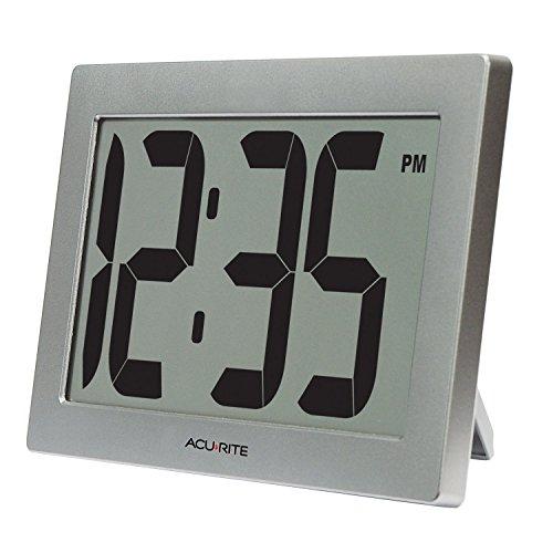 AcuRite 75102 Grande Horloge numérique avec Affichage 9,5 Pouces (24 cm) et Chiffres de 3,75 Pouces (9,5 cm) avec Technologie Intelli-Time