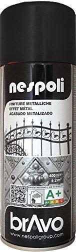 Aérosol peinture professionnelle effet métallisé noir 400 ml, NESPOLI