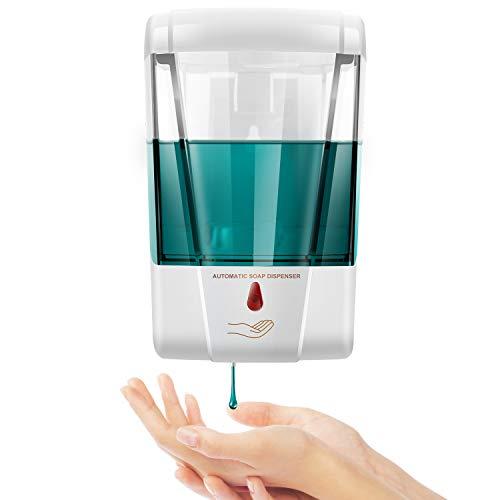 Swonuk Dispensador Automático de Jabón Pared, 700ml Dispensador Automático de Jabón con Sensor IR de Bomba de Loción de Jabón de Cocina sin Contacto para Baño de Cocina Hospital
